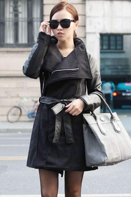 Montaged Style Black Coat