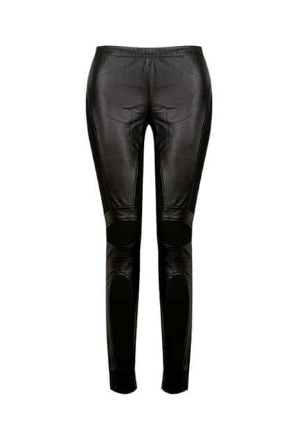 Chunky Knitted Splicing Black Pants