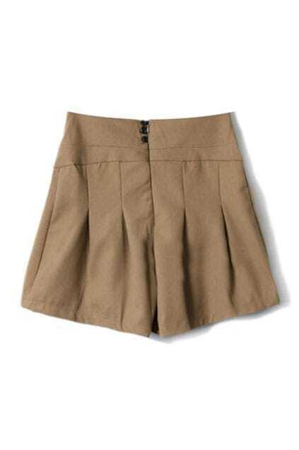 Skirt Style Khaki Shorts