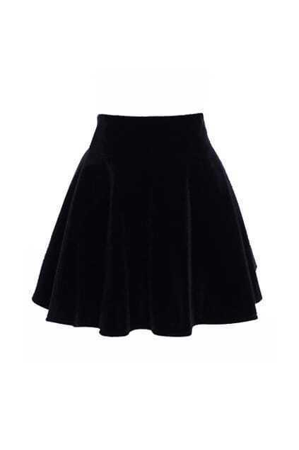 Classic High Waist Black Skirt