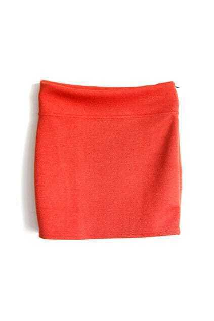 A-shaped Orange Skirt
