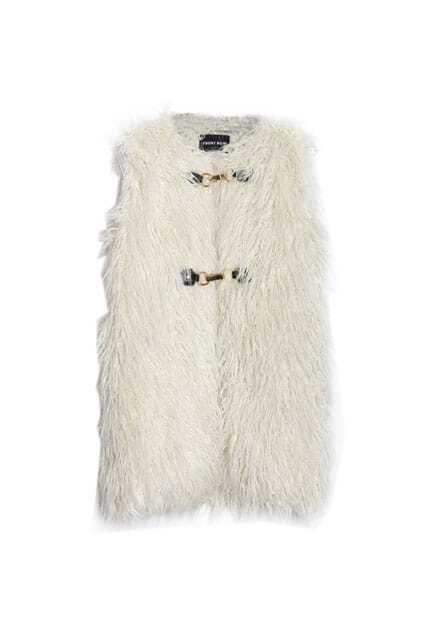 Fur Style White Vest