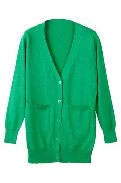 Knitted Green Cardigan