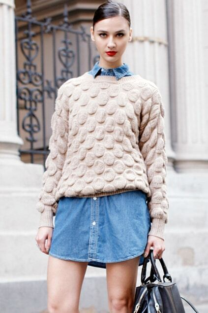Chunky Knitted Cream Jumper