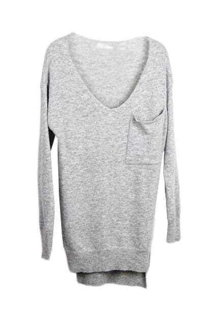 Basic Style Grey Jumper