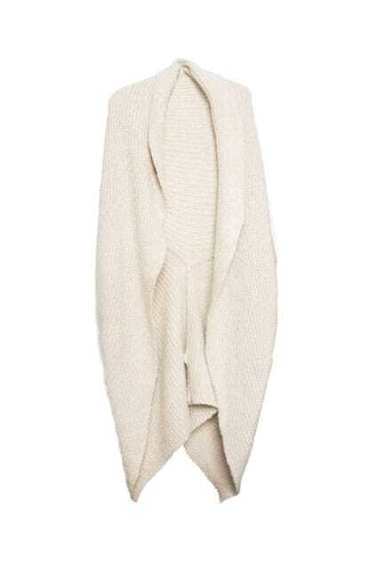 Caped Style Cream Cardigan