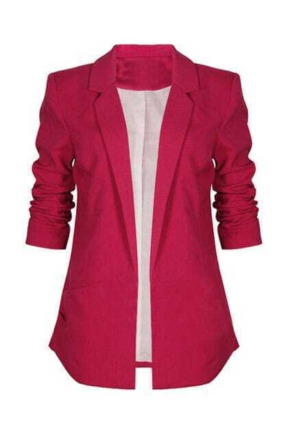 No Button Soft Lining Rose Blazer
