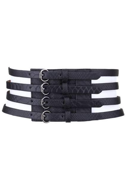 Black Wide Cut Belt
