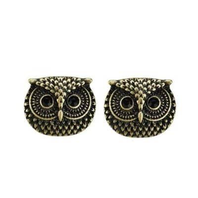 Owl Bronze Stud Earrings