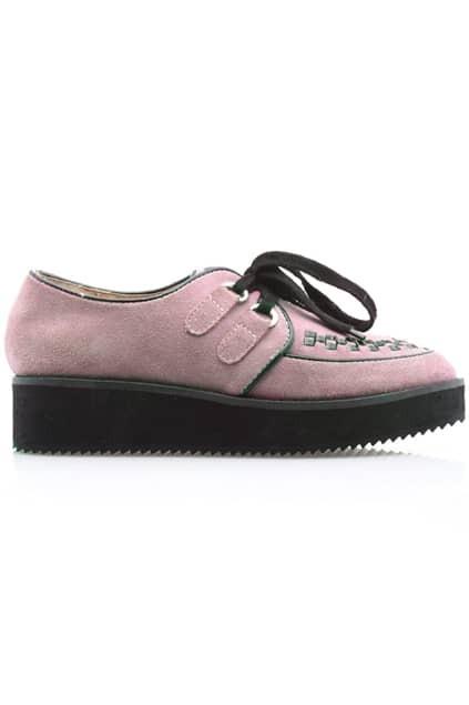 Check Detailed Pink Platform Shoes