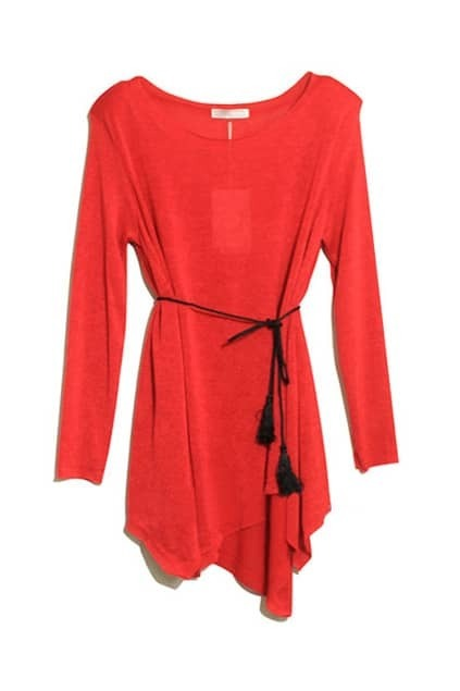 Anomalous Red Knitted Dress