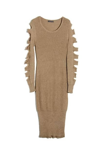 Special Sleeves Camel Dress