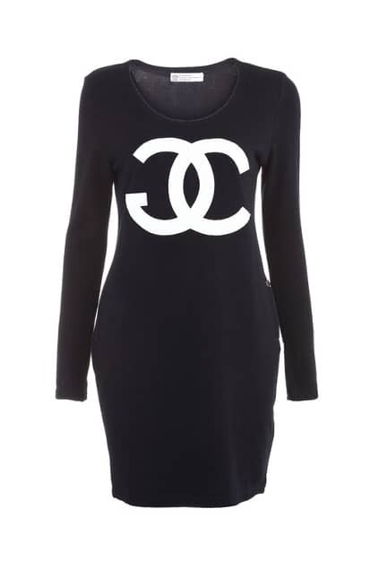 Chanel Black Knitted Dress