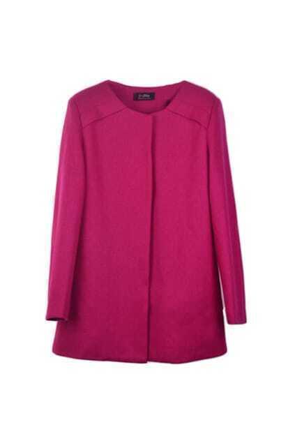 Brief Stright Rose Coat