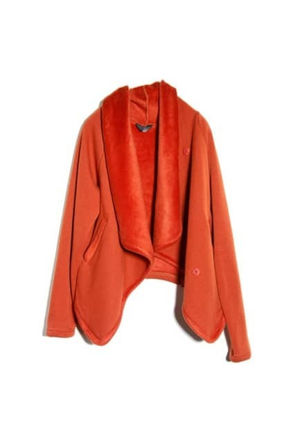 Anomalous Plush Orange Coat