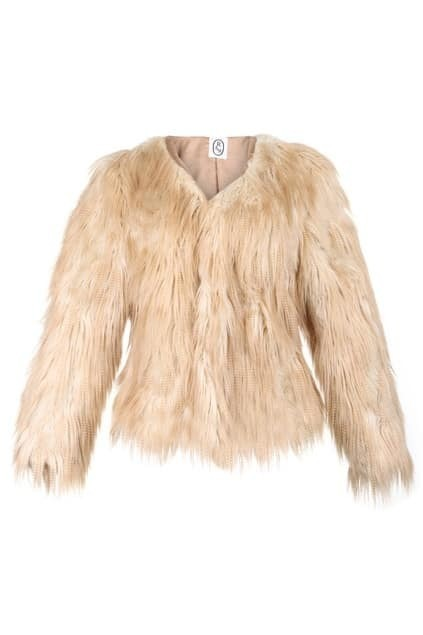 Hairy Apricot Faux Fur Coat