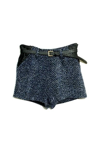 Montage Blue Check Shorts