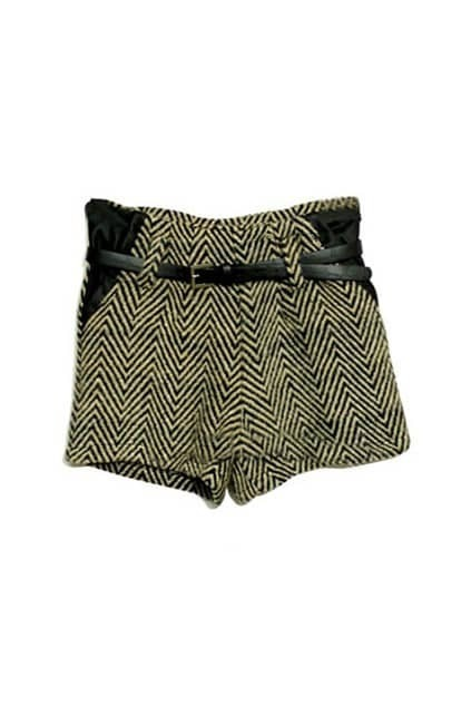 Montage Yellow Check Shorts