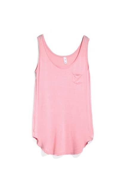 Oversized Pocket Pink Vest