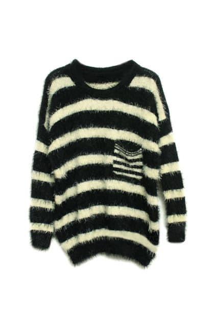 Wide Black Striped Jumper