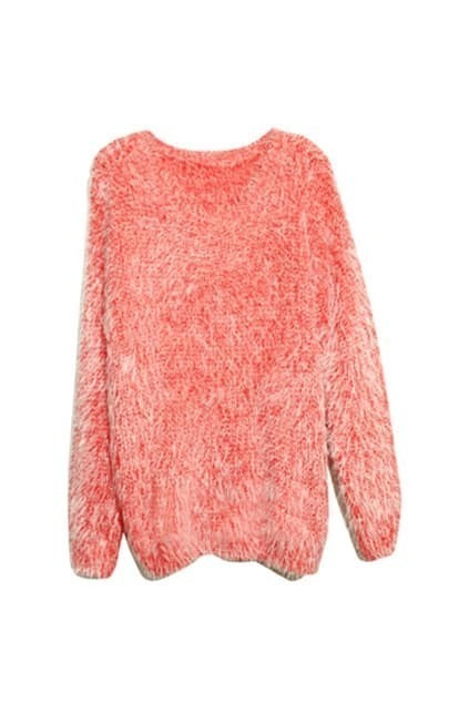 Ruffle Red Mohair Jumper