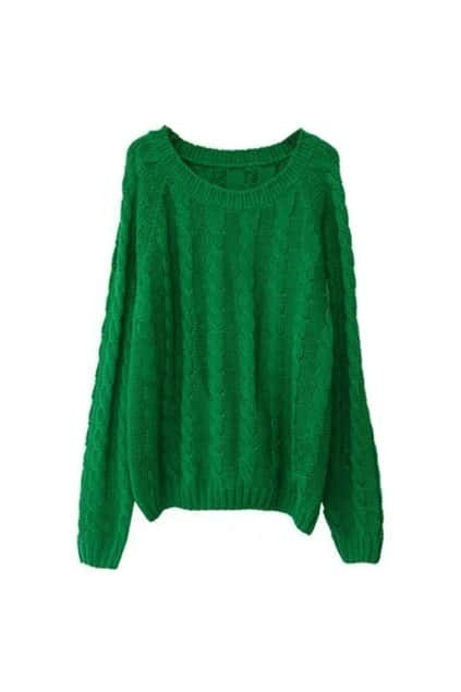 Retro Green Jumper