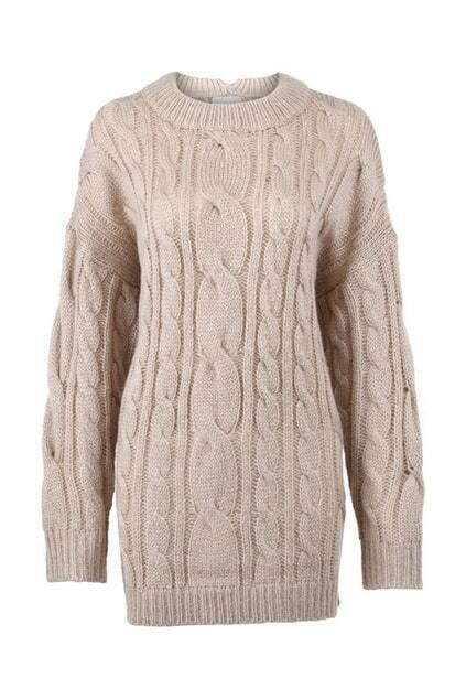 Apricot Chunky Knitted Jumper