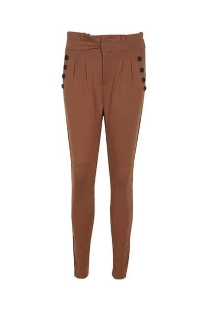 High Waist Brown Harem Pants