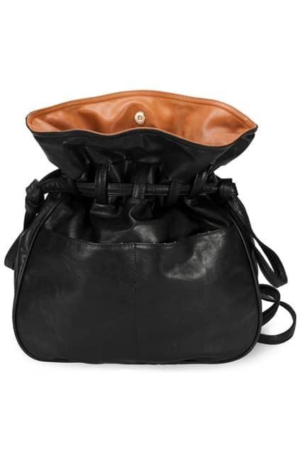 Contrast Color String Black Backpack