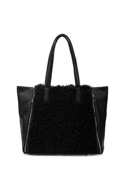 Retro Large Capacity Brownie Black Bag