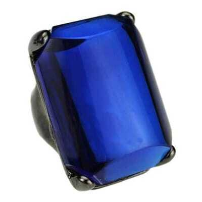 Huge Blue Diamoned Ring