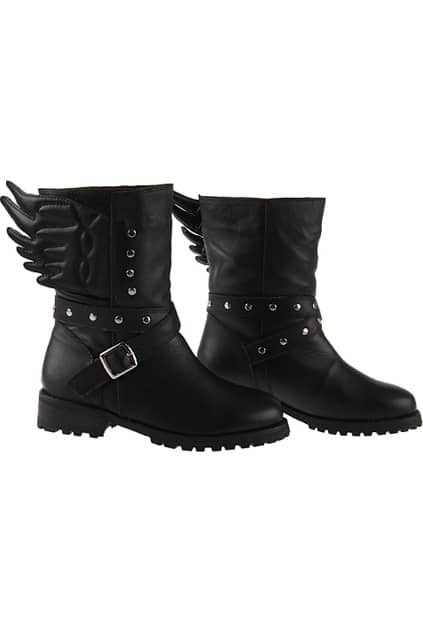 Angel Wing Black Boots