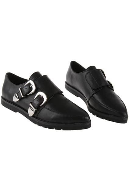 Juliette Velcro Low Cut Black Shoes