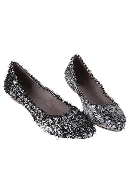 Retro Low Cut Silver Shoes