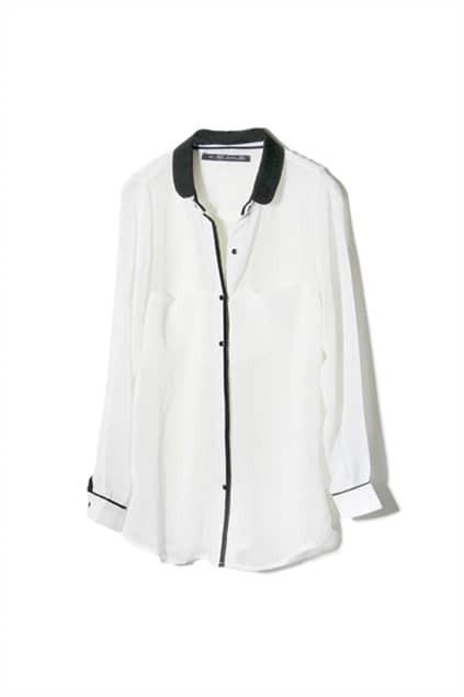 Oversized Longline White Shirt