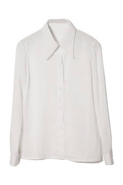 Retro White Chiffon Shirt