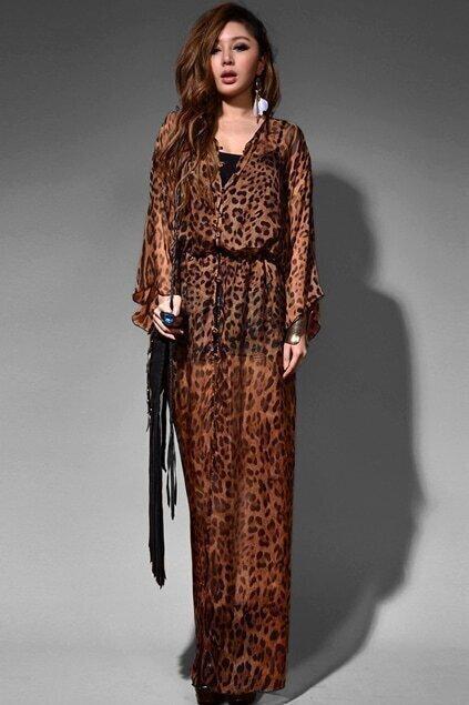 Retro Longline Leopard Shift Dress
