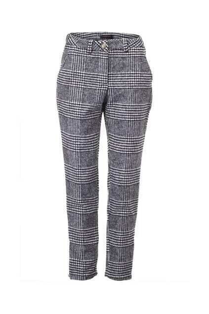 Ziped Cuff Houndstooth Ankle Pants