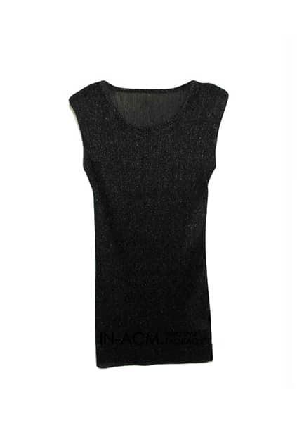 Shoulder Pads Metallic Black Vest