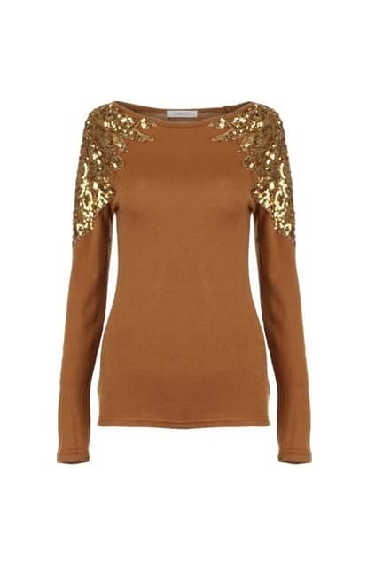 Sequin Ginger Knitted T-shirt