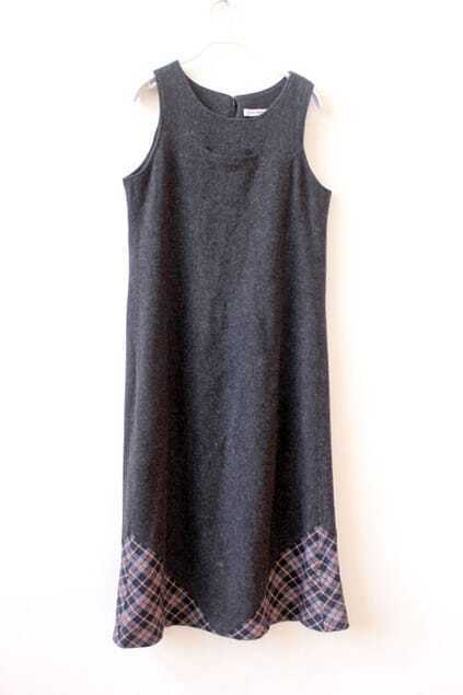 Elegant Grey Tank Dress