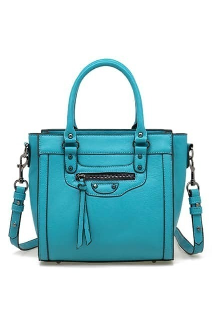 Tassel Detailed Blue Bag