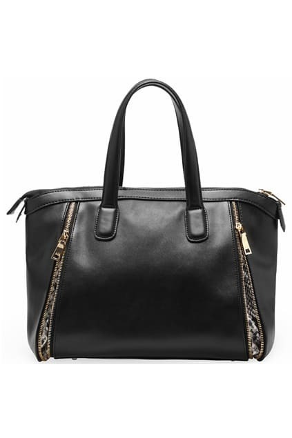 Retro Fashionable Snake Black Bag