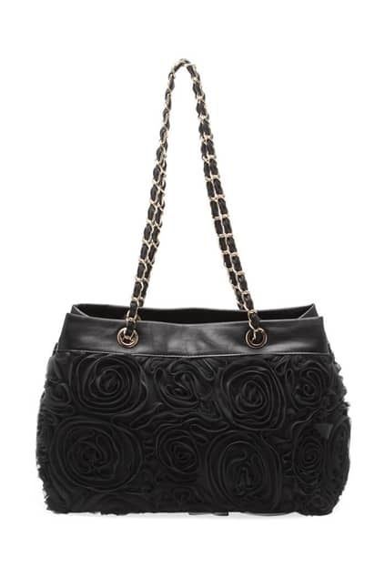 Stereo Rose Lace Flower Bag