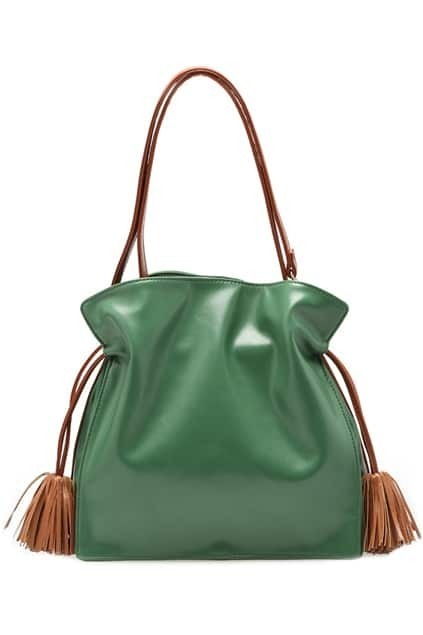 Preppy Look Tassel Green Bag