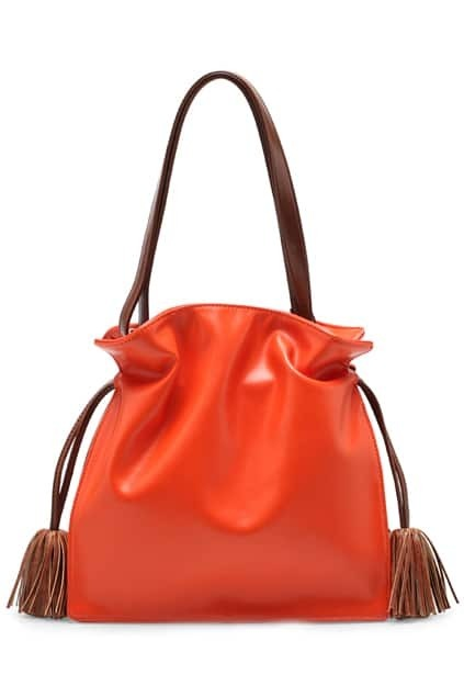 Preppy Look Tassel Orange Bag
