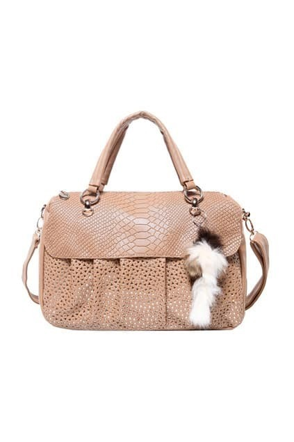 Hollow Cream-coloured Bag