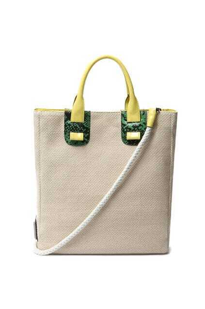 All-match Contrast Color Off-white Bag