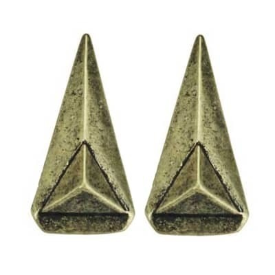 Triangle Shape Spike Earrings