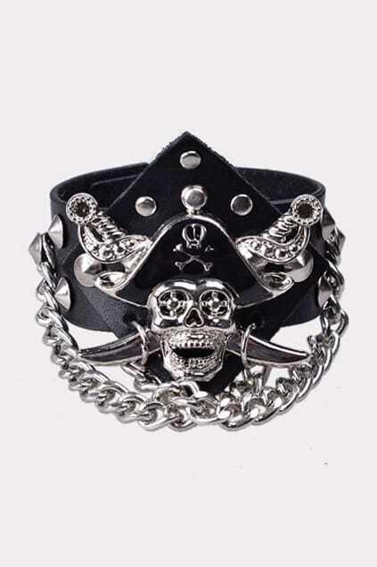 Punk Samrt Black Bracelet